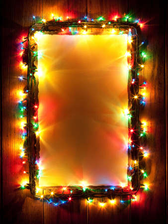 Christmas lights, abstract color background photo