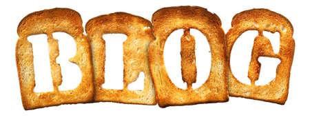 isolated Letter of Toast alphabet on white photo