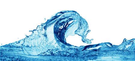 Blue water splashing on a backdrop. Stock Photo