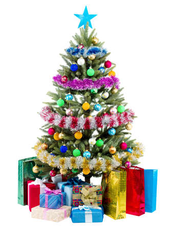 Christmas Tree and Gifts isolated on white background Stock Photo - 7478599