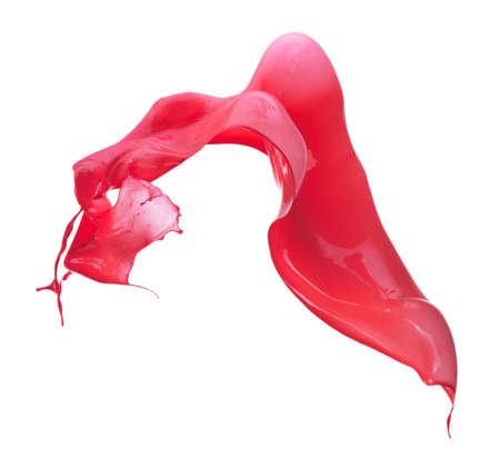 red paint splash isolated on white background
