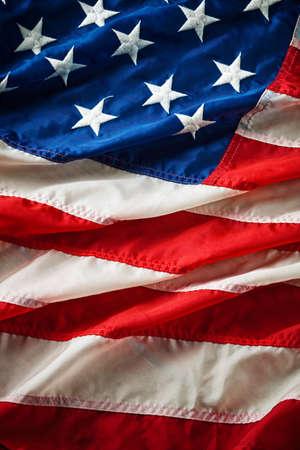 Wapperende vlag van de VS met golf