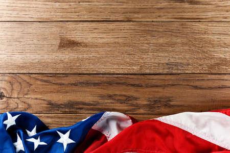 flag usa: flapping flag USA with wave