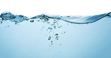 water: blue water splash isolated on white background Stock Photo