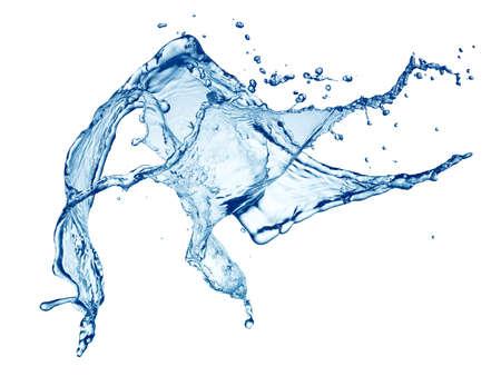 blue water splash isoliert auf weißem Hintergrund