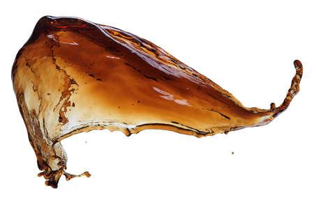 colas: Cola splash isolata on white
