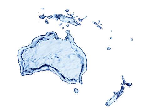mainland: Splash of water in the form of mainland Australia