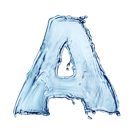 One letter of water alphabet Stock Photo - 7611923
