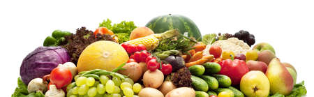 Fresh Vegetables, Fruits and other foodstuffs. Isolated. Stock Photo - 7991994