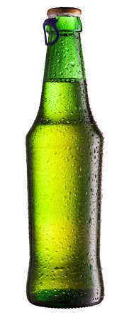 beer bottle isolated on white Stock Photo - 7939906