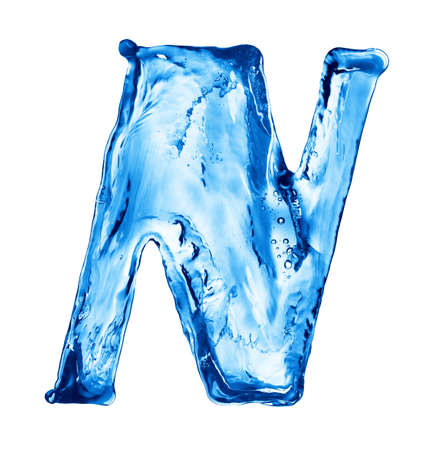 water alphabet: Splash of water in the form of letters