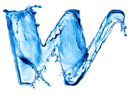 Splash of water in the form of letters photo