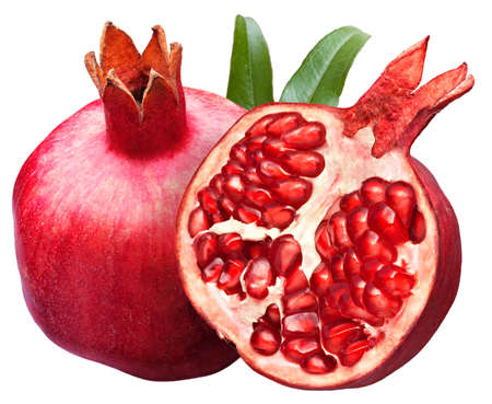 pomegranate isolated on white background Stok Fotoğraf