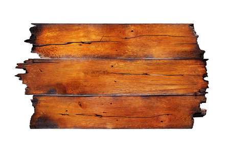 burnt wood: charred wood board isolated on white Stock Photo