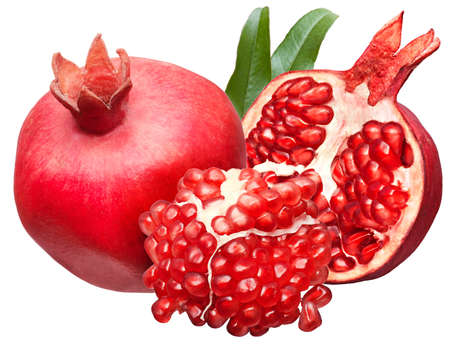 pomegranate isolated on white background photo