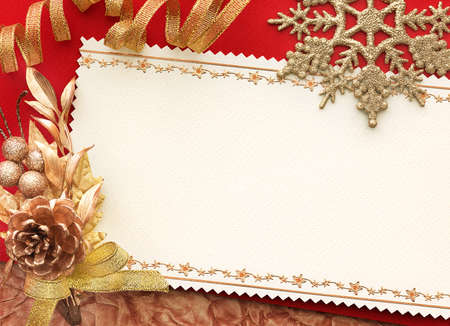 Christmas decoration. vintage background with space for text or image.  photo