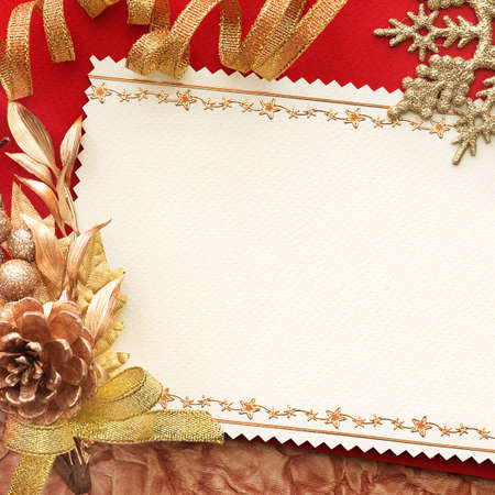 Christmas decoration. vintage background with space for text or image. Stock Photo - 9039871