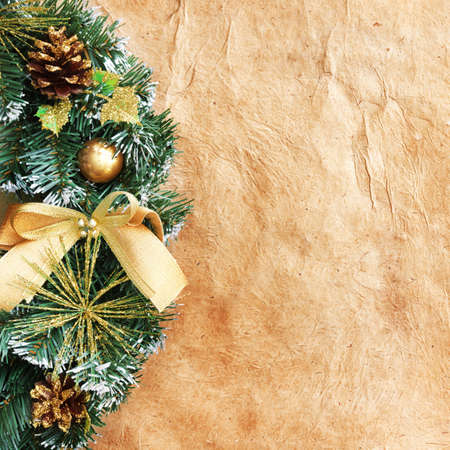 Christmas wreath on the paper Stock Photo - 9039884