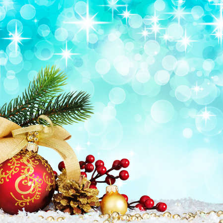 Christmas decoration. vintage background with space for text or image. Stock Photo - 9039823