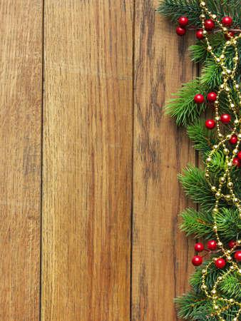 Christmas fir tree and decoration photo