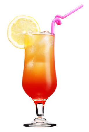 Tequila sunrise Cocktail isolated on a white background photo
