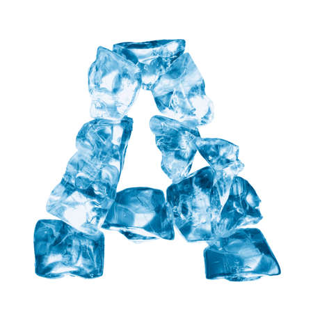 ice alphabet: alphabet made out of ice isolated on white Stock Photo