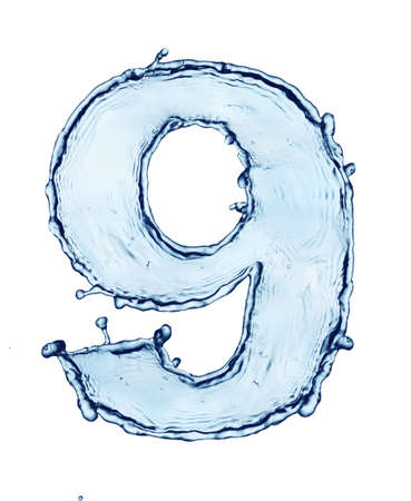 One letter of water alphabet Stock Photo - 9270555