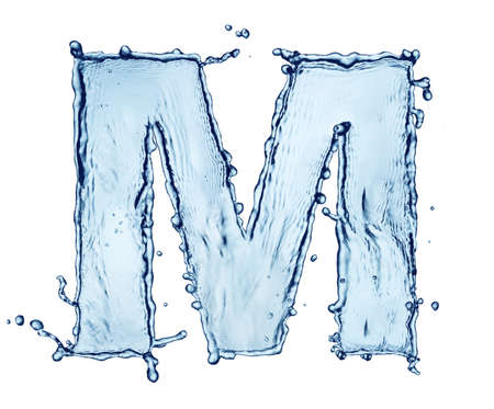 beautiful alphabet: One letter of water alphabet