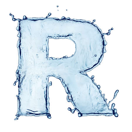 water alphabet: One letter of water alphabet