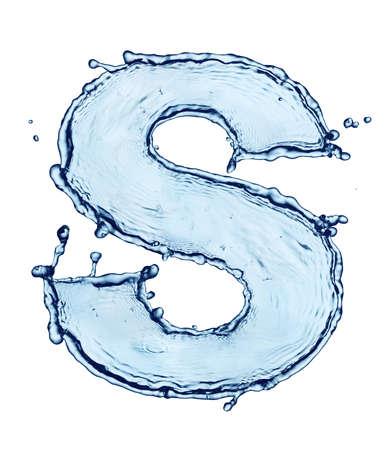 alphabet: Einen Buchstaben des Alphabets Wasser