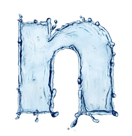 One letter of water alphabet Stock Photo - 9270447