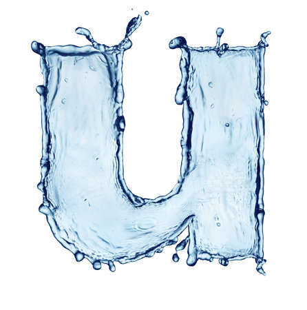 One letter of water alphabet Stock Photo - 9270446