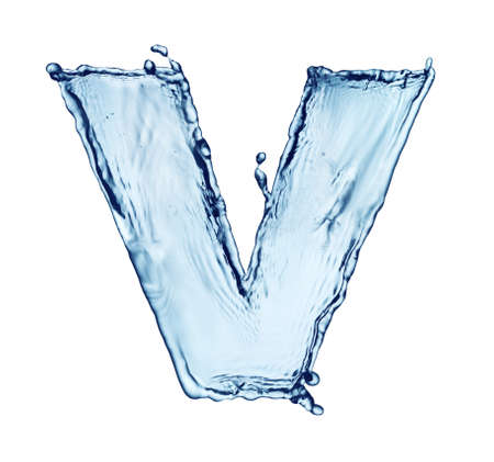 One letter of water alphabet Stock Photo - 9270428