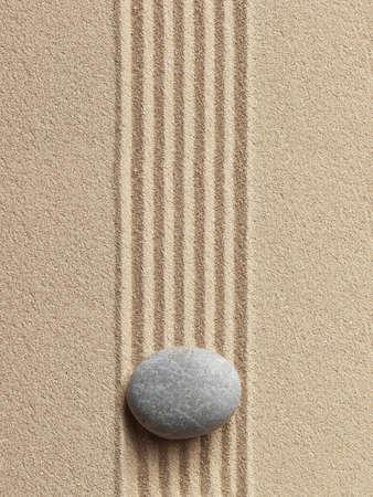 meditation stones: Zen stone in the sand. Background