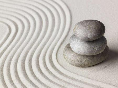 zen stone: Zen stone in the sand. Background
