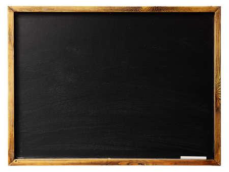 Leeg bord in houten frame op wit wordt geïsoleerd