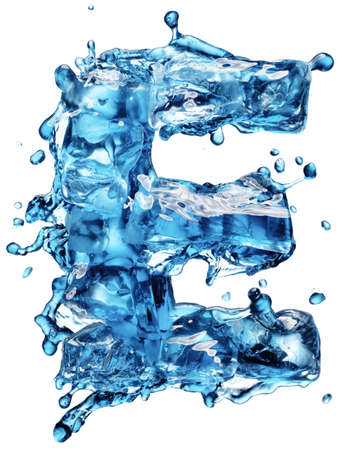 cola with ice alphabet isolated on white Stock Photo - 12568333