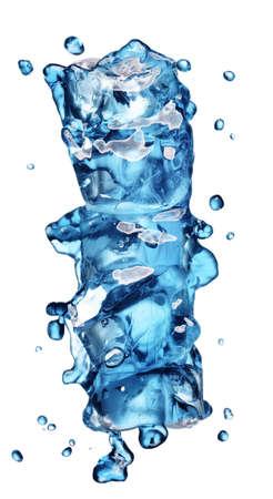 cola with ice alphabet isolated on white photo