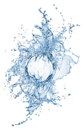 blue water splash isolated on white background Stock Photo - 12569120