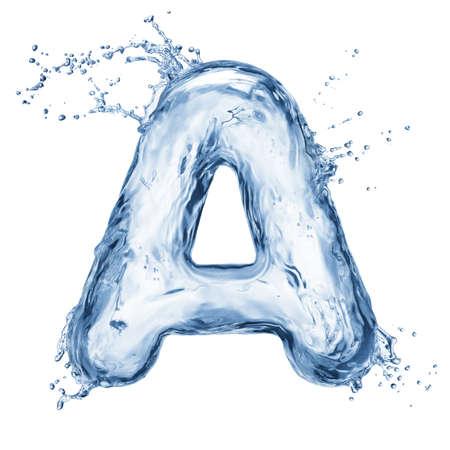 lettre de l alphabet: Une lettre de l'alphabet en bambou isol� sur blanc Banque d'images