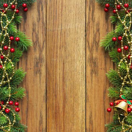 adornos navideños: Abeto de Navidad con la decoración de navidad