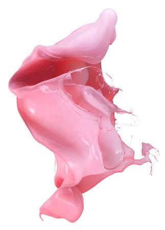 Isolated shot of paint splashing on white photo