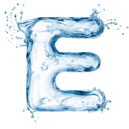 One letter of water alphabet Stock Photo - 12568723