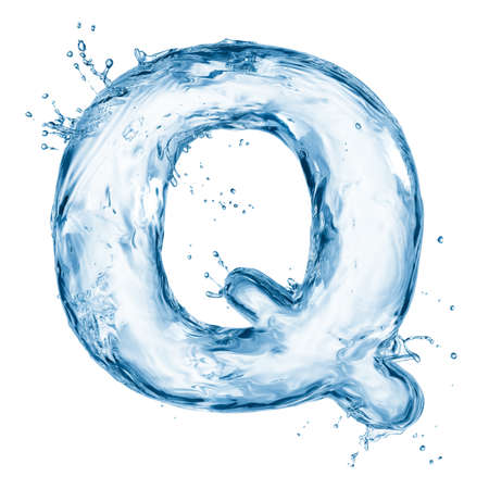One letter of water alphabet Stock Photo - 12569147