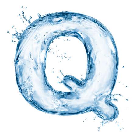 carta de agua liquida: Una letra del alfabeto de agua