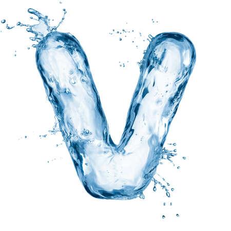 carta: Una letra del alfabeto de agua