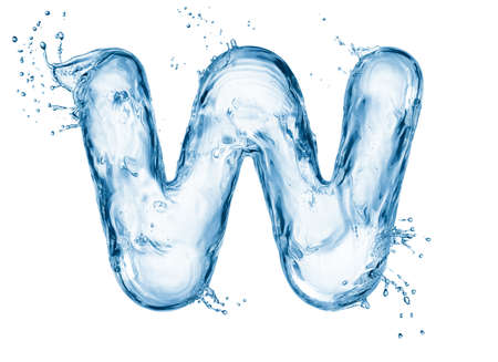 alphabet letter a: One letter of water alphabet