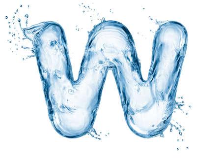 Una lettera dell'alfabeto acqua Archivio Fotografico - 21221845