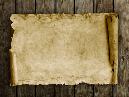 paper texture: Old paper on the wood background Stock Photo