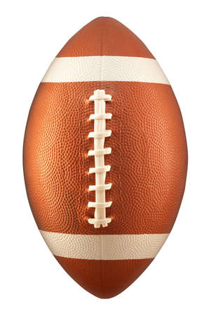 american football background: American Football isolated on a white background Stock Photo